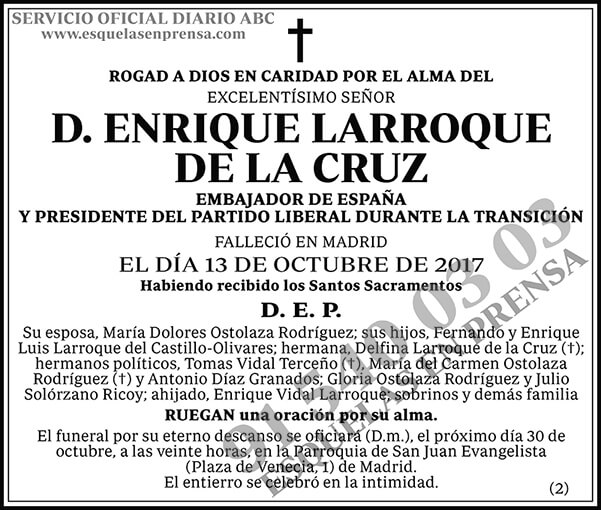 Enrique Larroque de la Cruz